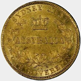 1868 Gold|Copper Full Sovereign reverse