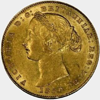 1868 Gold|Copper Full Sovereign obverse