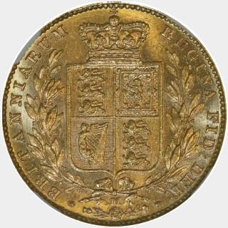 1885-M  Full Sovereign reverse