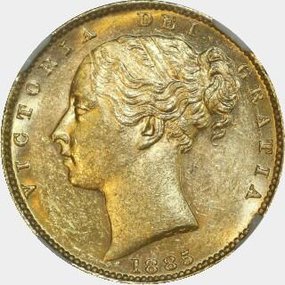 1885-M  Full Sovereign obverse