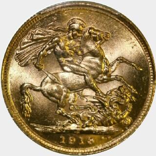 1913-S  Full Sovereign reverse