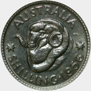 1956 Proof Shilling reverse