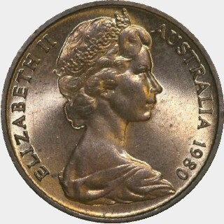1980  One Cent obverse