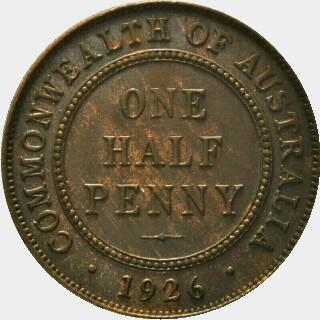 1926 Proof Half Penny reverse