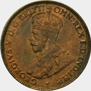 1926 Proof Half Penny obverse