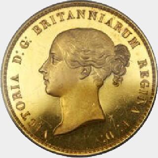 1839 Proof Five Pound obverse
