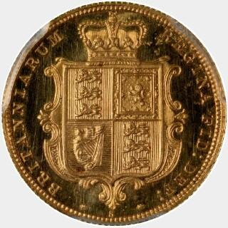 1880-S Proof Half Sovereign reverse