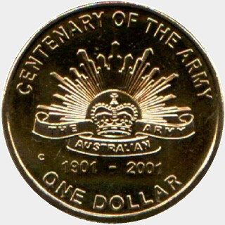 2001-C  One Dollar reverse