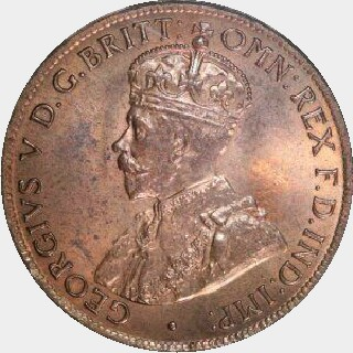 1927 Proof Half Penny obverse