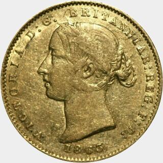 1863  Half Sovereign obverse