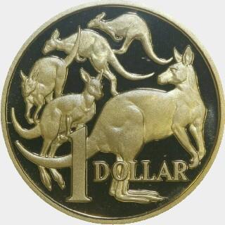 1992 Proof One Dollar reverse