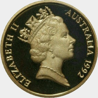 1992 Proof One Dollar obverse