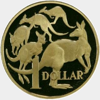 2005 Proof One Dollar reverse
