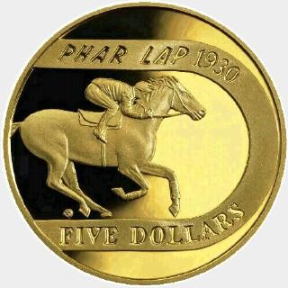 2000 Proof Five Dollar reverse