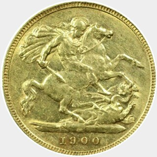 1900-M  Half Sovereign reverse