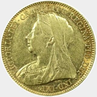 1900-M  Half Sovereign obverse
