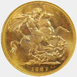 1887-S  Full Sovereign reverse
