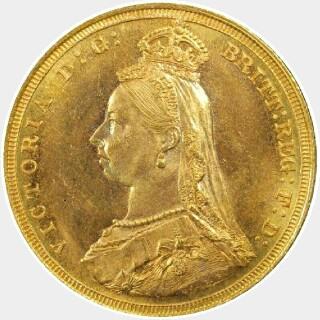 1887-S  Full Sovereign obverse
