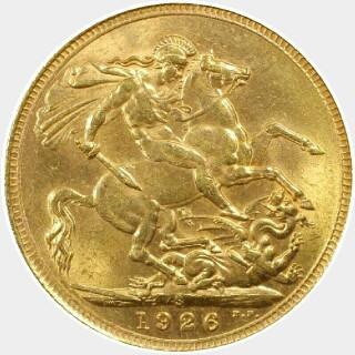 1926-S  Full Sovereign reverse