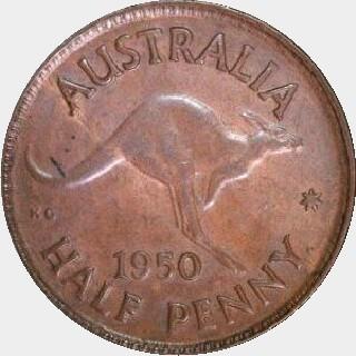 1951-Y Proof Half Penny reverse