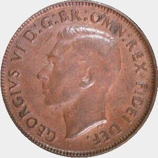 1951-Y Proof Half Penny obverse