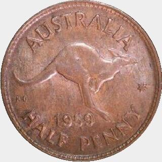 1964-Y Proof Half Penny reverse