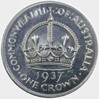 1937 Proof Crown reverse