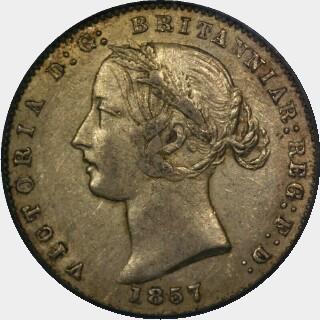 1857/5 Overdate Half Sovereign obverse