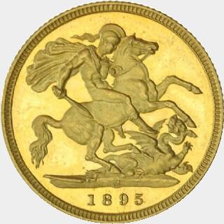 1895-M Pattern Half Sovereign reverse