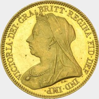 1895-M Pattern Half Sovereign obverse