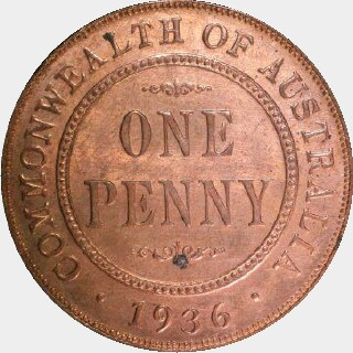 1928 Proof Penny reverse