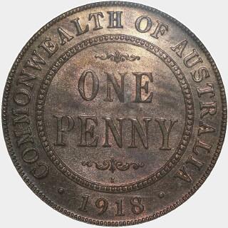 1918-I  Penny reverse