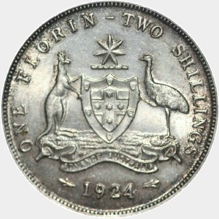 1924  Florin reverse