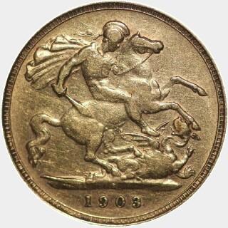 1903-S  Half Sovereign reverse