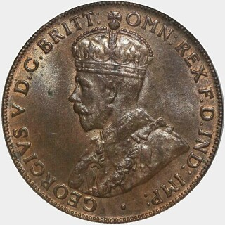 1920 Dot Below Lower Scroll Penny obverse