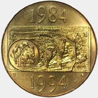1994-S  One Dollar reverse