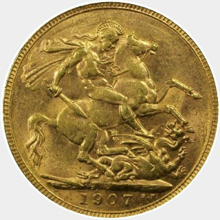 1907-P  Full Sovereign reverse