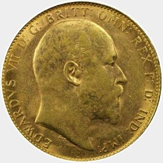 1907-P  Full Sovereign obverse