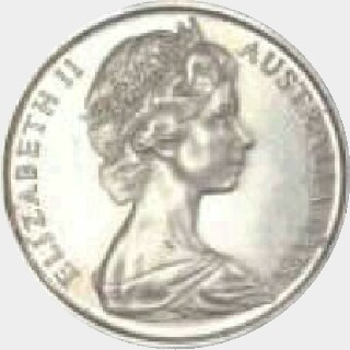 1978 Muled with Fijian Reverse Five Cent obverse