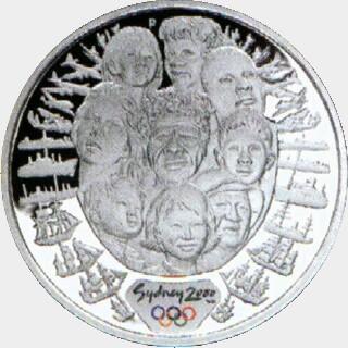2000-P Proof Five Dollar reverse