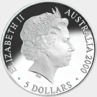 2000-C Proof Five Dollar obverse