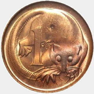 1968  One Cent reverse