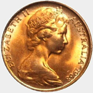 1968  One Cent obverse
