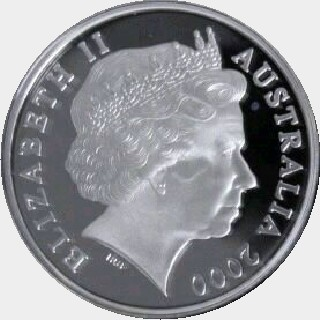 2000 Silver Proof One Dollar obverse