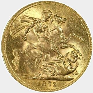 1872-S Narrow Truncation Long Tail Full Sovereign reverse