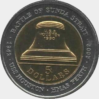 2002 Bi-metal Five Dollar reverse