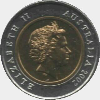 2002 Bi-metal Five Dollar obverse