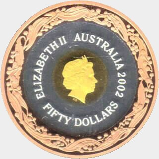 2002 Proof Fifty Dollar obverse