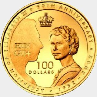 2002 Proof One Hundred Dollar reverse