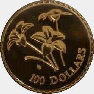 2003  One Hundred Dollar reverse